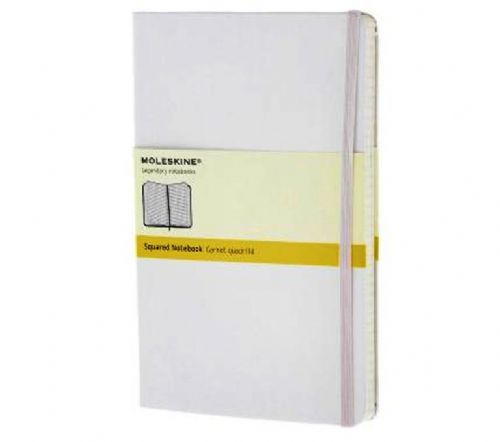 White Large Squared Notebook